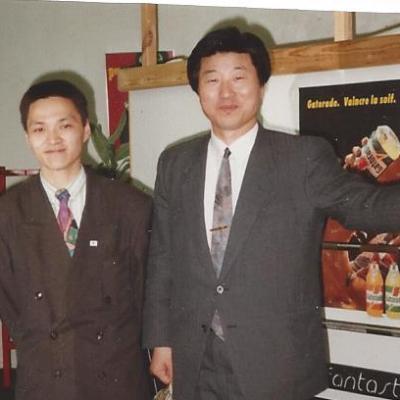 avec Beom Jhoo Lee (mon Maître, fondateur du Taekwondo et Tangsoodo Belge)
