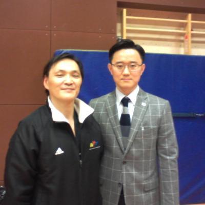 avec Na Young Jip (Corée)