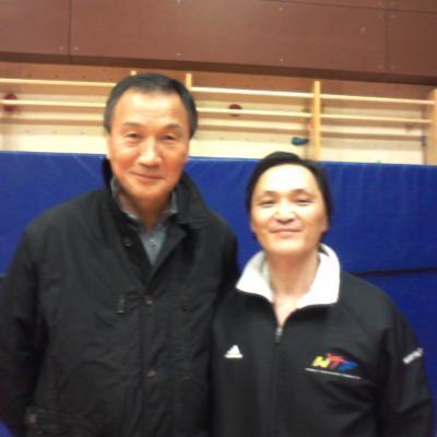 avec Park Soo Nam (Allemagne)