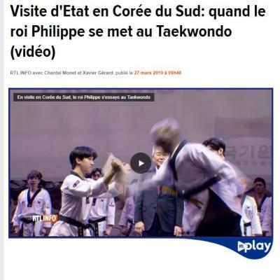 Roi Philippe s'essaye au Taekwondo